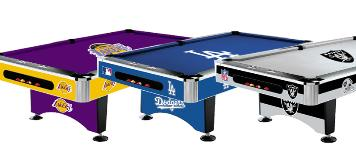 NBA - MLB - NFL LICENSED POOL TABLES