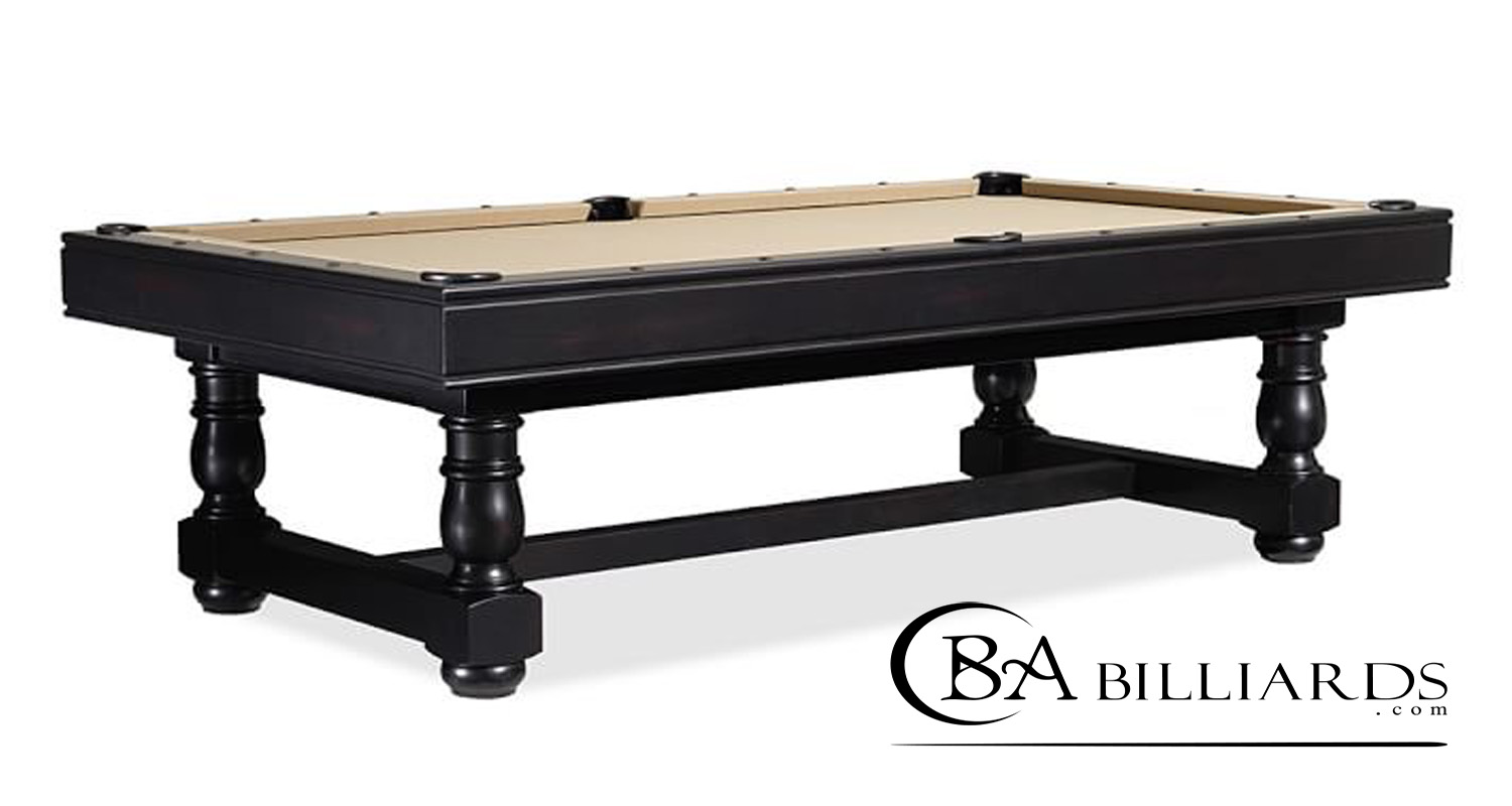 turned leg pool table